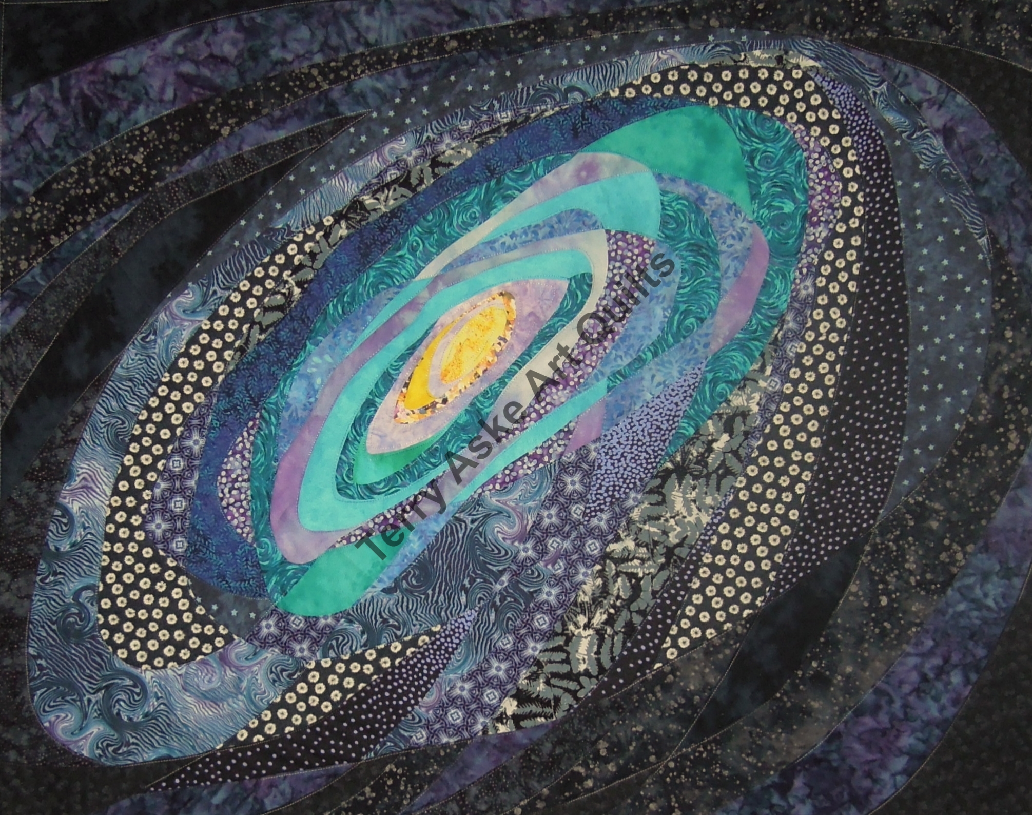 Galaxy quilt start to finish terry aske for Galaxy quilt fabric