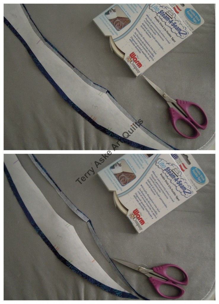 TerryAske-applying fusible tape to edge of fabric